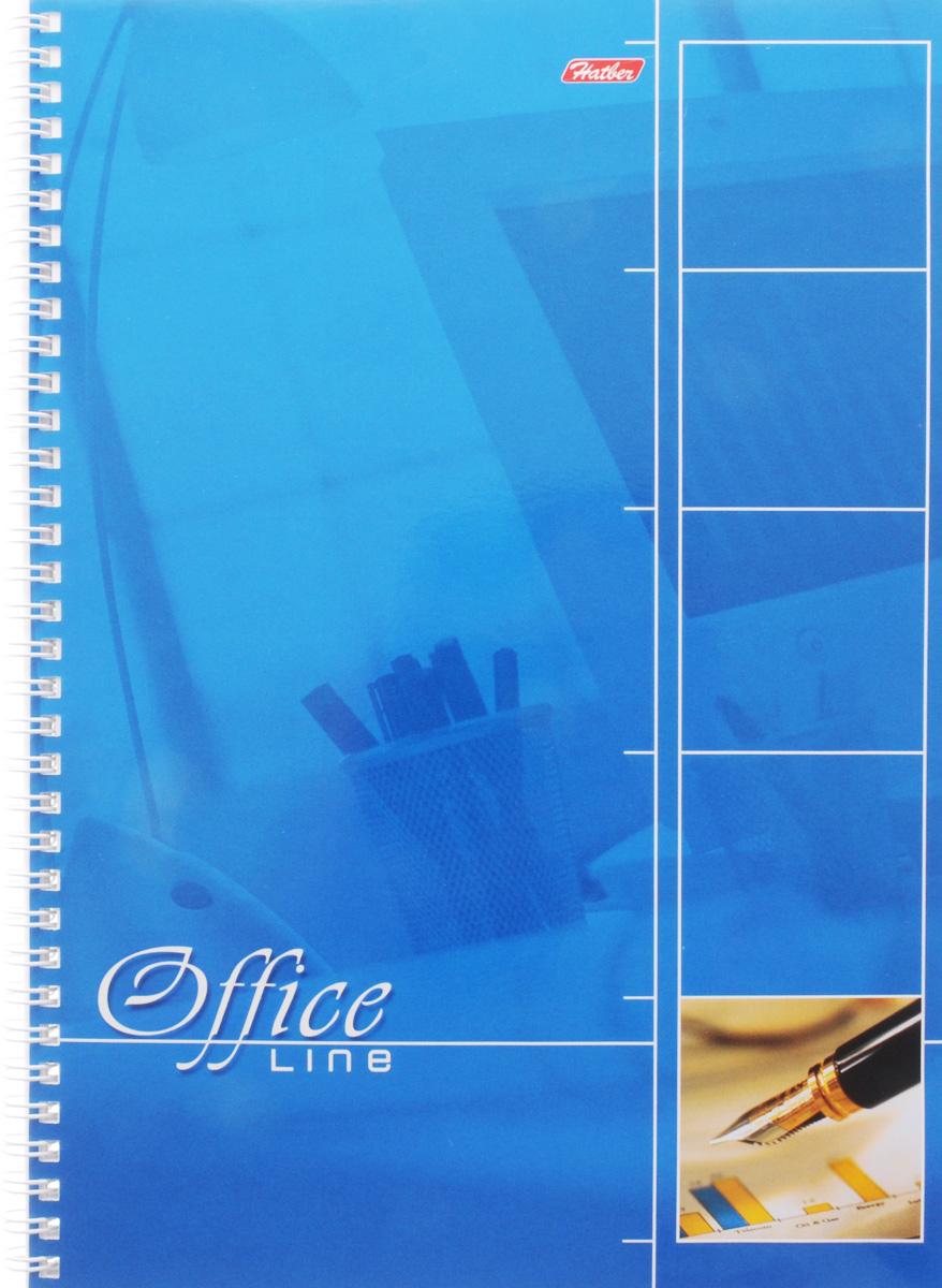 Hatber Тетрадь Office Line 80 листов в клетку цвет голубой80Т4вмB1гр_голубойТетрадь Hatber Office Line непременно подойдет как школьнику, так и студенту. Обложка тетради выполнена из картона и оформлена в нежном голубом цвете. Внутренний блок состоит из 80 листов в синюю клетку с закругленными углами, формата А4. Листы тетради соединены надежным металлическим гребнем. Такая удобная тетрадь от Hatber Office Line станет для вас надежным помощником в учебных или офисных делах.