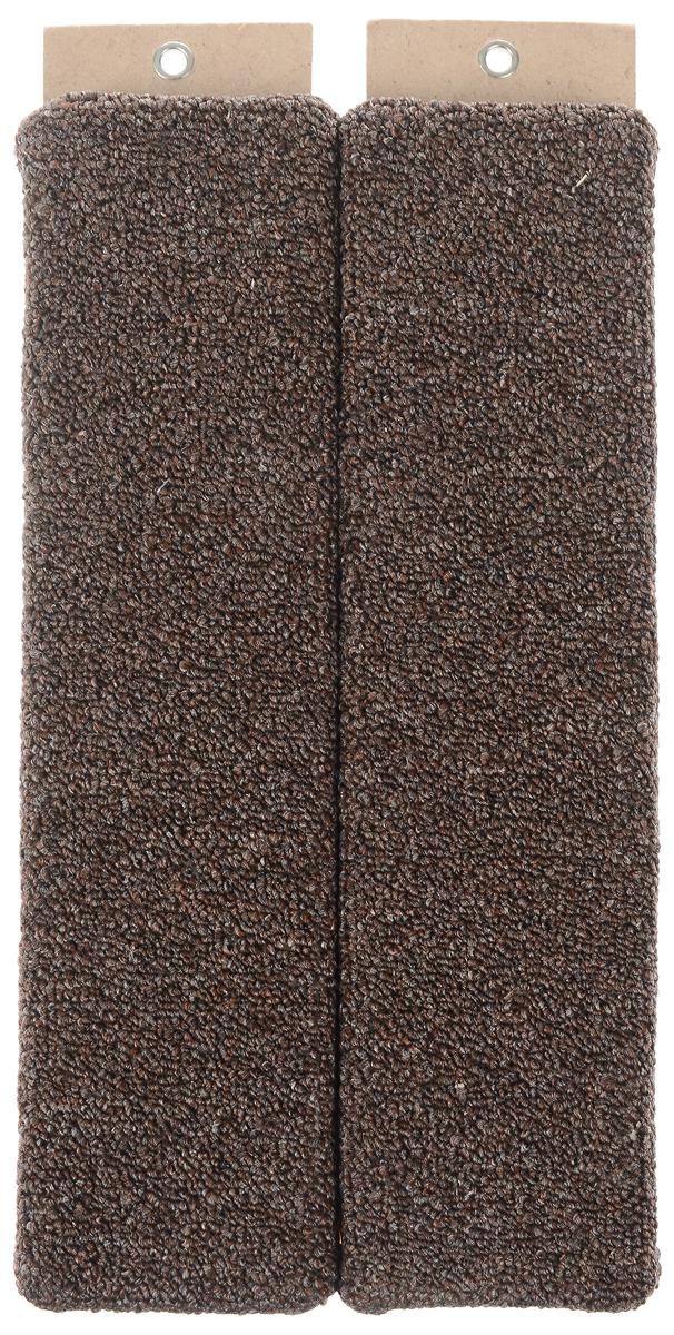Когтеточка Меридиан, настенная, угловая, цвет: серый, коричневый, длина 45 см0120710Угловая когтеточка Меридиан предназначена для стачивания когтей вашей кошки и предотвращения их врастания. Волокна ковролина обеспечивает естественный уход за когтями питомца. Когтеточка позволяет сохранить неповрежденными мебель и другие предметы интерьера. Угловая когтеточка может крепиться на смежных поверхностях стен и пола.Длина когтеточки: 45 см.Длина рабочей части: 42 см.Ширина одной поверхности: 10 см.