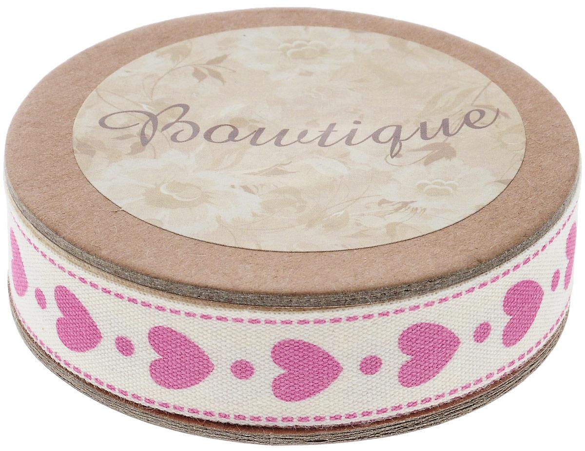 Лента хлопковая Hemline Сердечки, цвет: молочный, розовый, 1,5 х 500 смVR15.901Лента на картонной катушке Hemline Сердечки выполнена из хлопка. Такая лента идеально подойдет для оформления различных творческих работ, может использоваться для скрапбукинга, создания аппликаций, декора коробок и открыток, часто ее применяют при пошиве одежды, сумок, аксессуаров. Лента наивысшего качества практична в использовании. Она станет незаменимым элементом в создании вашего рукотворного шедевра.