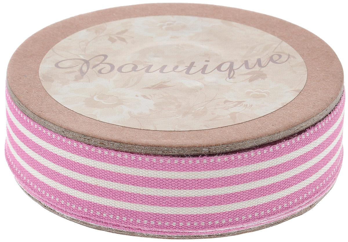 Лента хлопковая Hemline Полоски, цвет: белый, розовый, 1,5 х 500 смVR15.900Лента на картонной катушке Hemline Полоски выполнена из хлопка. Такая лента идеально подойдет для оформления различных творческих работ, может использоваться для скрапбукинга, создания аппликаций, декора коробок и открыток, часто ее применяют при пошиве одежды, сумок, аксессуаров. Лента наивысшего качества практична в использовании. Она станет незаменимым элементом в создании вашего рукотворного шедевра.