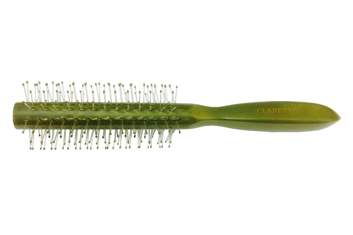 Clarette Щетка для волос круглая, цвет: оливковыйCPB 623Коллекция Clarette Перламутр- это расчески, щетки и термо-брашинги для ухода за волосами. Коллекция изготовлена из перламутрового пластика в яркой цветовой гамме. Щетка подходит для профессионального применения, легко поднимает корни волос, придавая объем прическе