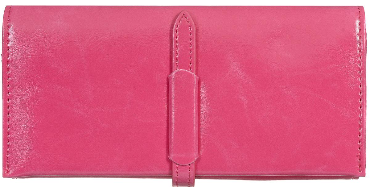 Кошелек женский Kawaii Factory Классика, цвет: маджента. KW057-000553A16-11154_711Классический полнокупюрный кошелек Классика от Kawaii Factory прекрасно впишется в любой стиль. Внутри он состоит из 3 отделений для купюр, 12 кармашков для карточек и визиток и кармашка для фото. Кошелек также оснащен внешним прорезным карманом для мелочей, отделением для мелочи на застежке-молнии и скрытым карманом. Изделие закрывается на хлястик с фиксатором. Женский кошелек Классика отличается строгим эргономичным дизайном и универсальностью. Если вам нравится сдержанность стиля и лаконичность в деталях, такой аксессуар обязательно должен быть в списке ваших вещей.