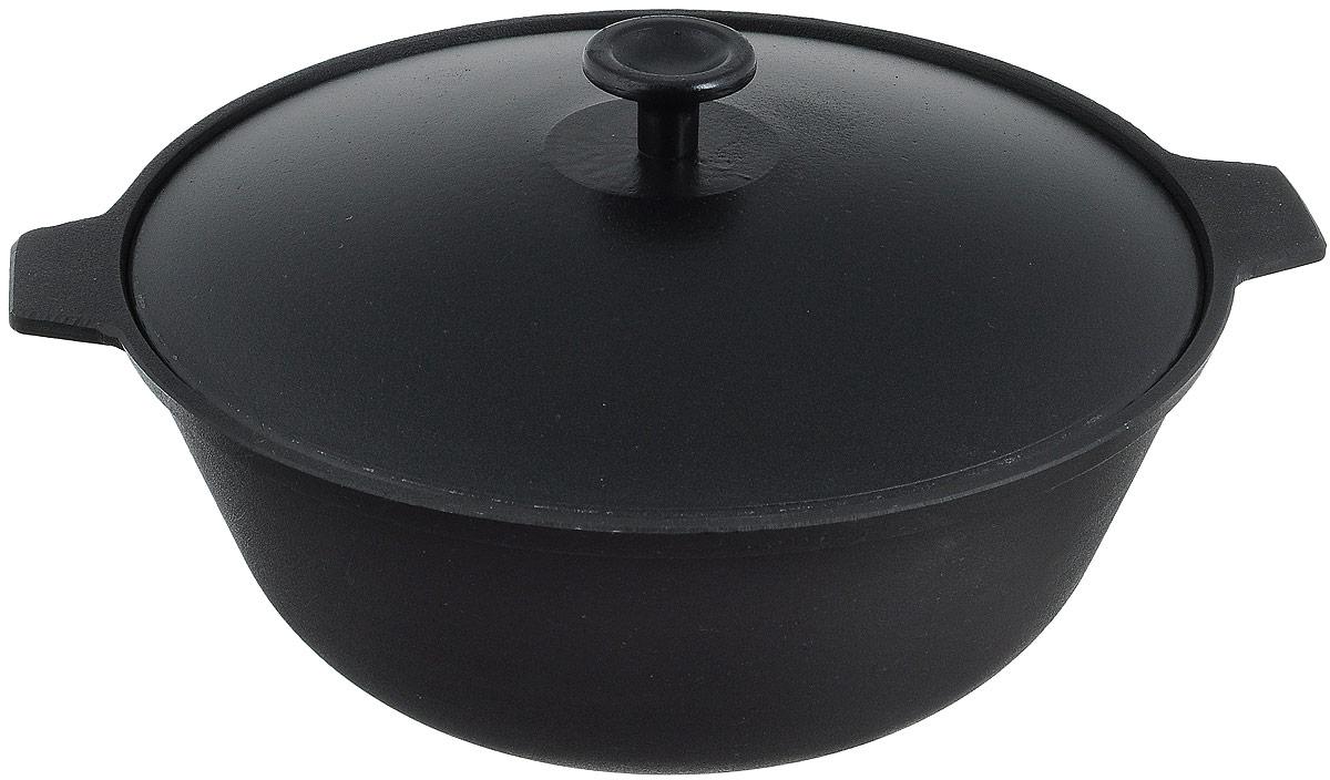 Котел чугунный Добрыня с крышкой, 3 л203-1000_черныйКотел Добрыня изготовлена из натурального экологически безопасного чугуна. Изделие оснащено двумяручками и алюминиевой крышкой. Котел является одним из лучших материалов для производства посуды. Его можно нагревать до высоких температур. Он очень практичный, не выделяет токсичных веществ, обладает высокой теплоемкостью и способен служить долгие годы. Такой котел замечательно подойдет для приготовления жаренных и тушеных блюд. Подходит для всех типов плит, включая индукционные. Изделие мыть только вручную.Диаметр котла ( по верхнему краю): 26,5 см.Высота стенки: 10,5 см.Ширина котла (с учетом ручек): 30,5 см.Диаметр основания: 12 см.