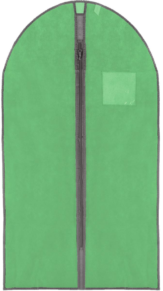 Чехол для одежды Хозяюшка Мила, тканевый, цвет: зеленый, 60 х 100 см47010Чехол для одежды Хозяюшка Мила изготовлен из вискозы и оснащен застежкой-молнией. Особое строение полотна создает естественную вентиляцию: материал дышит и позволяет воздуху свободно проникать внутрь чехла, не пропуская пыль. Прозрачное окошко позволяет увидеть, какие вещи находятся внутри. Чехол для одежды будет очень полезен при транспортировке вещей на близкие и дальние расстояния, при длительном хранении сезонной одежды, а также при ежедневном хранении вещей из деликатных тканей. Чехол для одежды Хозяюшка Мила защитит ваши вещи от повреждений, пыли, моли, влаги и загрязнений.