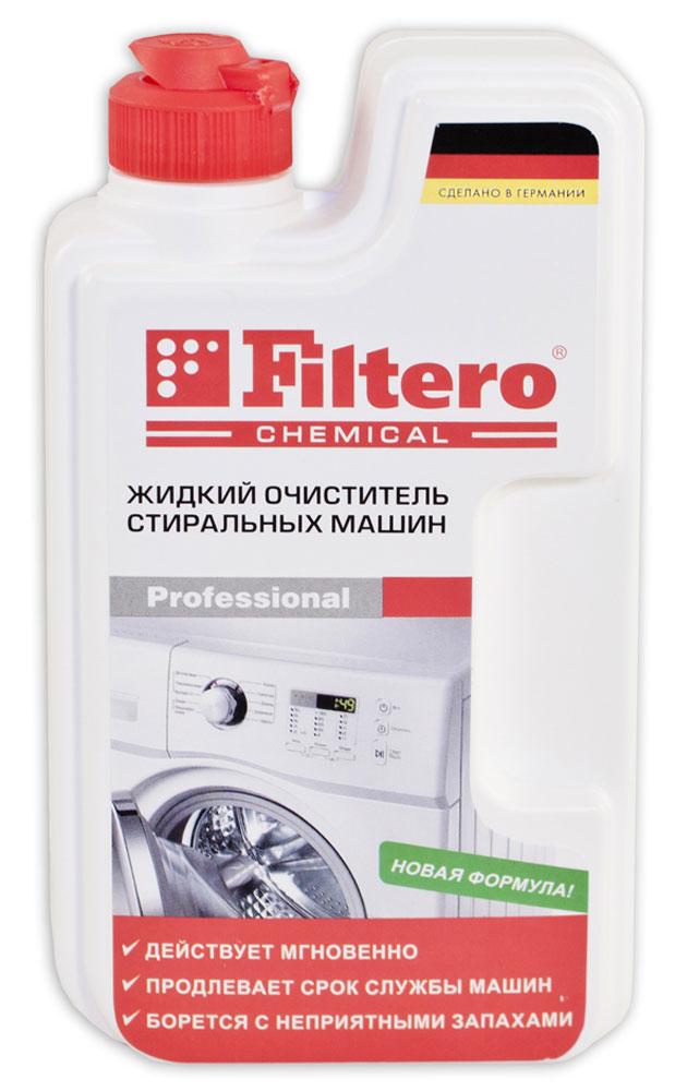 Filtero 902 жидкий очиститель для стиральных машин, 250 мл20-8Жидкий очиститель Filtero полностью удаляет накипь с нагревательных элементов, загрязнения на всех внутренних поверхностях стиральных машин. Борется с неприятными запахами. Действует мгновенноПродлевает срок службы машинБорется с неприятными запахами