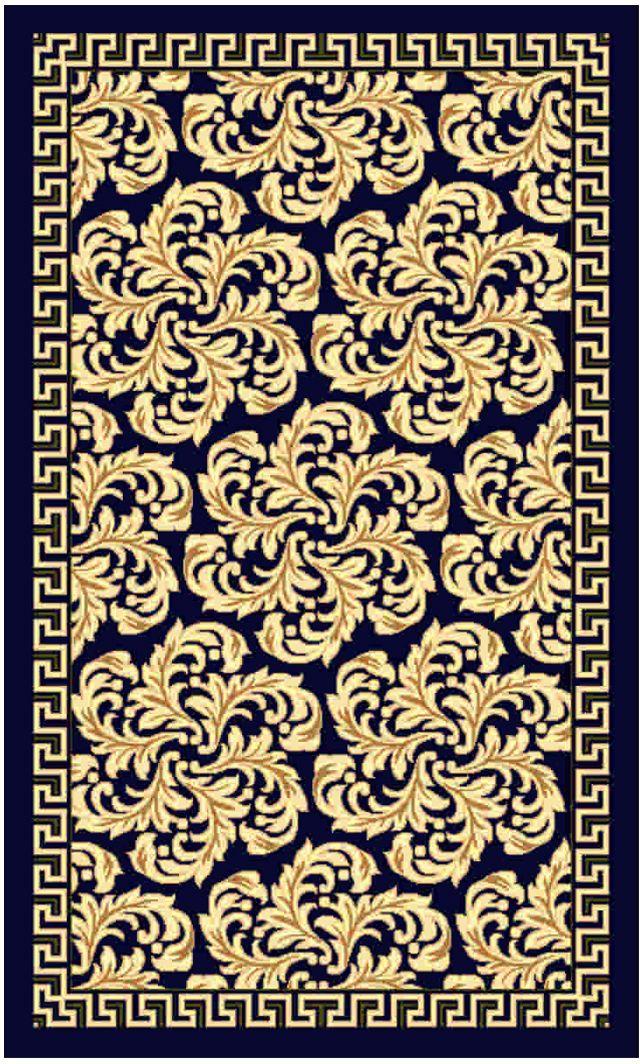 """Ковер """"Kamalak tekstil"""", прямоугольный, цвет: синий, 50 x 100 см. УК-0492"""