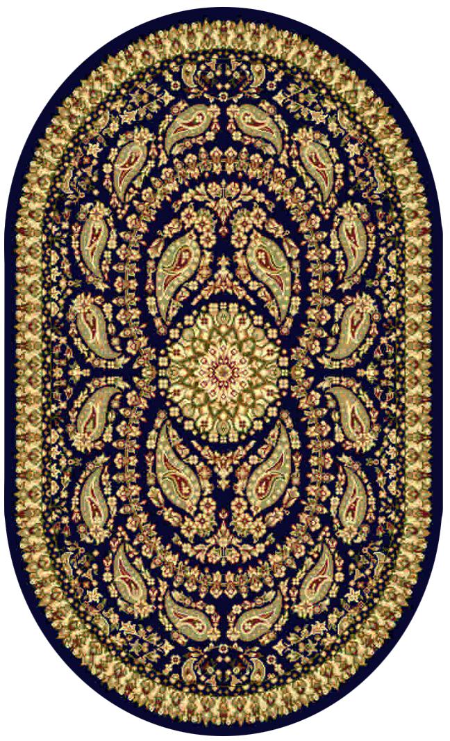 """Ковер """"Kamalak tekstil"""", овальный, цвет: синий, 60 x 110 см. УК-0166"""