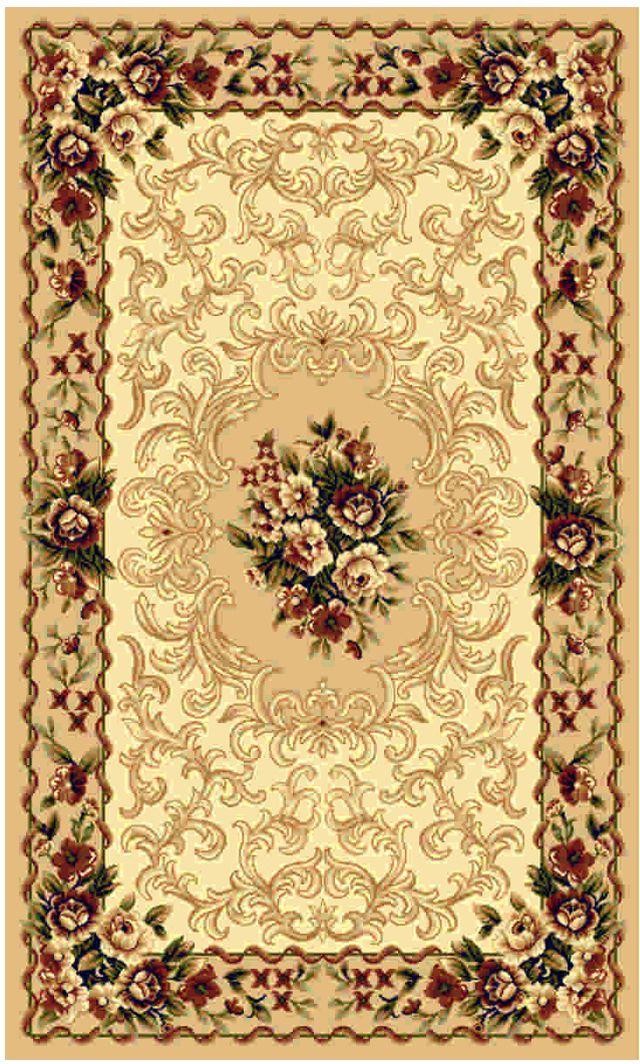 Ковер Kamalak tekstil, прямоугольный, цвет: бежевый, 60 x 110 см. УК-000317102019Ковры-паласы выполнены из полипропилена. Ковры обладают хорошими показателями теплостойкости и шумоизоляции. Являются гиппоалергенными. За счет невысокого ворса ковры легко чистить. Вам придется по душе широкая гамма цветов и возможность гармонично оформить интерьер. Практичный и устойчивый к износу ворс - от постоянного хождения не истирается, не накапливает статическое электричество. Структура волокна в полипропиленовых моделях гладкая, поэтому грязь не может выесться, на ворсе она скапливается с трудом. Полипропилен не впитывает влагу, отталкивает водянистые пятна. Уход: Самый простой способ избавить изделие от грязи – пропылесосить его с обеих сторон (лицевой и изнаночной).Влажная уборка с применением шампуней и моющих средств не противопоказана. Если шерсти и шёлку универсальные чистящие составы не подходят, то для синтетики они придутся в самый раз.Хранить их нужно рулоном, не складывая «салфеткой».При надлежащем уходе синтетический ковёр прослужит долго, не утратив ни яркости узора, ни блеска ворса, ни его упругости.