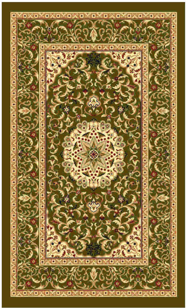 Ковер Kamalak tekstil, прямоугольный, цвет: зеленый, 50 x 100 см. УК-0511УК-0511Ковры-паласы выполнены из полипропилена. Ковры обладают хорошими показателями теплостойкости и шумоизоляции. Являются гиппоалергенными. За счет невысокого ворса ковры легко чистить. Вам придется по душе широкая гамма цветов и возможность гармонично оформить интерьер. Практичный и устойчивый к износу ворс - от постоянного хождения не истирается, не накапливает статическое электричество. Структура волокна в полипропиленовых моделях гладкая, поэтому грязь не может выесться, на ворсе она скапливается с трудом. Полипропилен не впитывает влагу, отталкивает водянистые пятна. Уход: Самый простой способ избавить изделие от грязи – пропылесосить его с обеих сторон (лицевой и изнаночной). Влажная уборка с применением шампуней и моющих средств не противопоказана. Если шерсти и шёлку универсальные чистящие составы не подходят, то для синтетики они придутся в самый раз. Хранить их нужно рулоном, не складывая «салфеткой». При надлежащем уходе синтетический ковёр прослужит долго, не утратив ни...