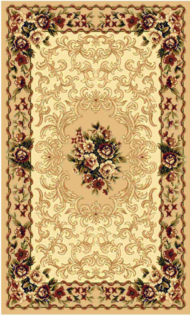 Ковер Kamalak tekstil, прямоугольный, цвет: бежевый, 50 x 100 см. УК-042822396Ковры-паласы выполнены из полипропилена. Ковры обладают хорошими показателями теплостойкости и шумоизоляции. Являются гиппоалергенными. За счет невысокого ворса ковры легко чистить. Вам придется по душе широкая гамма цветов и возможность гармонично оформить интерьер. Практичный и устойчивый к износу ворс - от постоянного хождения не истирается, не накапливает статическое электричество. Структура волокна в полипропиленовых моделях гладкая, поэтому грязь не может выесться, на ворсе она скапливается с трудом. Полипропилен не впитывает влагу, отталкивает водянистые пятна. Уход: Самый простой способ избавить изделие от грязи – пропылесосить его с обеих сторон (лицевой и изнаночной).Влажная уборка с применением шампуней и моющих средств не противопоказана. Если шерсти и шёлку универсальные чистящие составы не подходят, то для синтетики они придутся в самый раз.Хранить их нужно рулоном, не складывая «салфеткой».При надлежащем уходе синтетический ковёр прослужит долго, не утратив ни яркости узора, ни блеска ворса, ни его упругости.