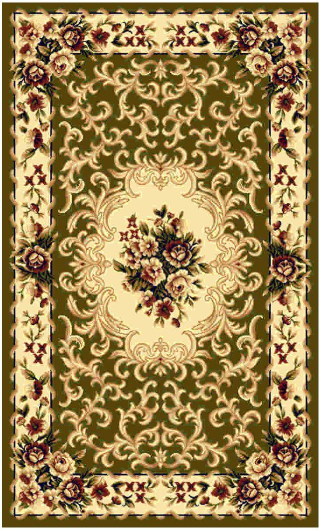"""Ковер """"Kamalak tekstil"""", прямоугольный, цвет: зеленый, 80 x 150 см. УК-0008"""