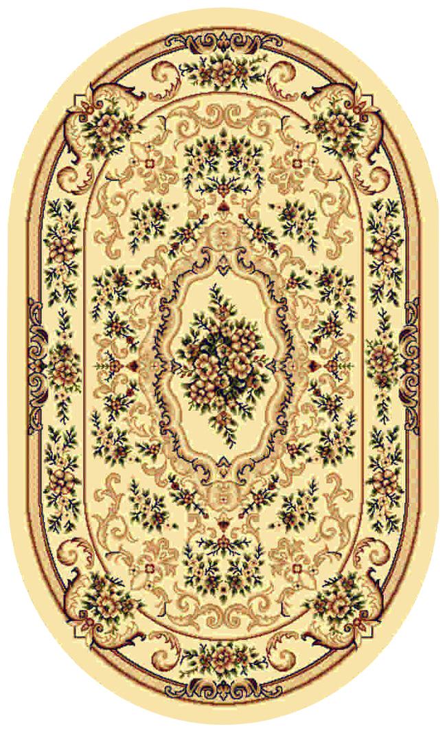 Ковер Kamalak tekstil, овальный, 100 x 150 см. УК-0102УК-0102Ковер Kamalak Tekstil изготовлен из прочного синтетического материала heat-set, улучшенного варианта полипропилена (эта нить получается в результате его дополнительной обработки). Полипропилен износостоек, нетоксичен, не впитывает влагу, не провоцирует аллергию. Структура волокна в полипропиленовых коврах гладкая, поэтому грязь не будет въедаться и скапливаться на ворсе. Практичный и износоустойчивый ворс не истирается и не накапливает статическое электричество. Ковер обладает хорошими показателями теплостойкости и шумоизоляции. Оригинальный рисунок позволит гармонично оформить интерьер комнаты, гостиной или прихожей. За счет невысокого ворса ковер легко чистить. При надлежащем уходе синтетический ковер прослужит долго, не утратив ни яркости узора, ни блеска ворса, ни упругости. Самый простой способ избавить изделие от грязи - пропылесосить его с обеих сторон (лицевой и изнаночной). Влажная уборка с применением шампуней и моющих средств не противопоказана. ...