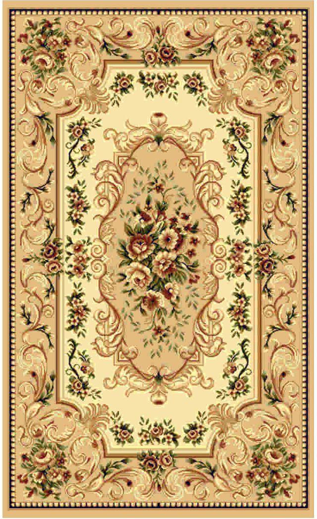 """Ковер """"Kamalak tekstil"""", прямоугольный, цвет: бежевый, 60 x 110 см. УК-0354"""