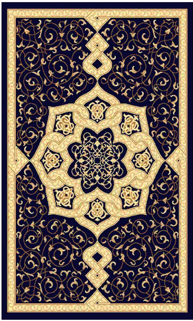 """Ковер """"Kamalak tekstil"""", прямоугольный, цвет: синий, 80 x 150 см. УК-0084"""