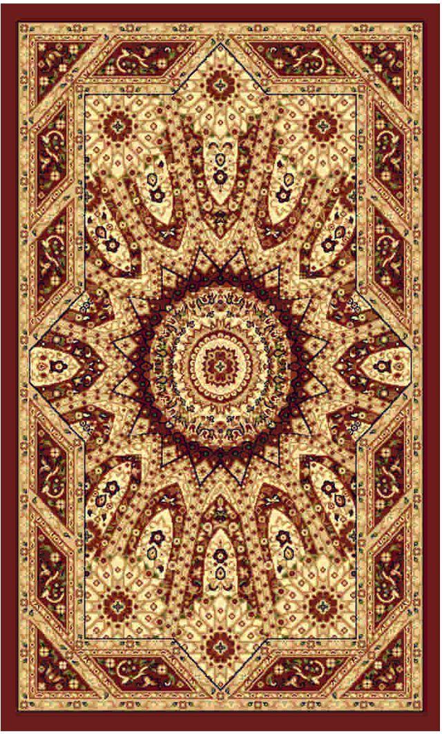 Ковер Kamalak tekstil, прямоугольный, цвет: бордовый , 50 x 100 см. УК-0485УК-0485Ковры-паласы выполнены из полипропилена. Ковры обладают хорошими показателями теплостойкости и шумоизоляции. Являются гиппоалергенными. За счет невысокого ворса ковры легко чистить. Вам придется по душе широкая гамма цветов и возможность гармонично оформить интерьер. Практичный и устойчивый к износу ворс - от постоянного хождения не истирается, не накапливает статическое электричество. Структура волокна в полипропиленовых моделях гладкая, поэтому грязь не может выесться, на ворсе она скапливается с трудом. Полипропилен не впитывает влагу, отталкивает водянистые пятна. Уход: Самый простой способ избавить изделие от грязи – пропылесосить его с обеих сторон (лицевой и изнаночной). Влажная уборка с применением шампуней и моющих средств не противопоказана. Если шерсти и шёлку универсальные чистящие составы не подходят, то для синтетики они придутся в самый раз. Хранить их нужно рулоном, не складывая «салфеткой». При надлежащем уходе синтетический ковёр прослужит долго, не утратив ни...