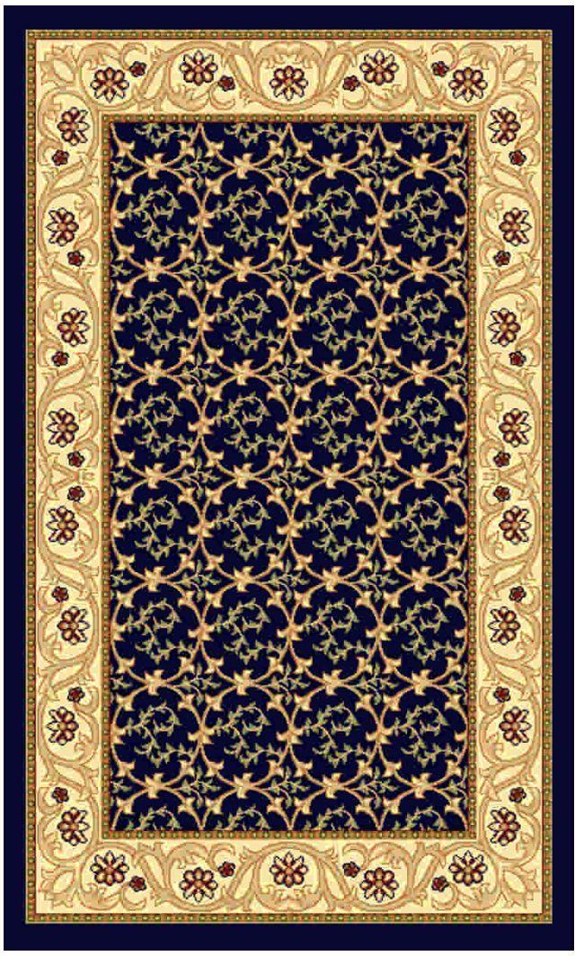 Ковер Kamalak tekstil, прямоугольный, цвет: синий, 60 x 110 см. УК-021420710Ковры-паласы выполнены из полипропилена. Ковры обладают хорошими показателями теплостойкости и шумоизоляции. Являются гиппоалергенными. За счет невысокого ворса ковры легко чистить. Вам придется по душе широкая гамма цветов и возможность гармонично оформить интерьер. Практичный и устойчивый к износу ворс - от постоянного хождения не истирается, не накапливает статическое электричество. Структура волокна в полипропиленовых моделях гладкая, поэтому грязь не может выесться, на ворсе она скапливается с трудом. Полипропилен не впитывает влагу, отталкивает водянистые пятна. Уход: Самый простой способ избавить изделие от грязи – пропылесосить его с обеих сторон (лицевой и изнаночной).Влажная уборка с применением шампуней и моющих средств не противопоказана. Если шерсти и шёлку универсальные чистящие составы не подходят, то для синтетики они придутся в самый раз.Хранить их нужно рулоном, не складывая «салфеткой».При надлежащем уходе синтетический ковёр прослужит долго, не утратив ни яркости узора, ни блеска ворса, ни его упругости.