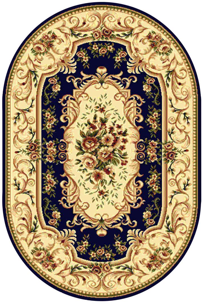 Ковер Kamalak tekstil, овальный, цвет: синий, 100 x 150 см. УК-0362УК-0362Ковры-паласы выполнены из полипропилена. Ковры обладают хорошими показателями теплостойкости и шумоизоляции. Являются гиппоалергенными. За счет невысокого ворса ковры легко чистить. Вам придется по душе широкая гамма цветов и возможность гармонично оформить интерьер. Практичный и устойчивый к износу ворс - от постоянного хождения не истирается, не накапливает статическое электричество. Структура волокна в полипропиленовых моделях гладкая, поэтому грязь не может выесться, на ворсе она скапливается с трудом. Полипропилен не впитывает влагу, отталкивает водянистые пятна. Уход: Самый простой способ избавить изделие от грязи – пропылесосить его с обеих сторон (лицевой и изнаночной). Влажная уборка с применением шампуней и моющих средств не противопоказана. Если шерсти и шёлку универсальные чистящие составы не подходят, то для синтетики они придутся в самый раз. Хранить их нужно рулоном, не складывая «салфеткой». При надлежащем уходе синтетический ковёр прослужит долго, не утратив ни...