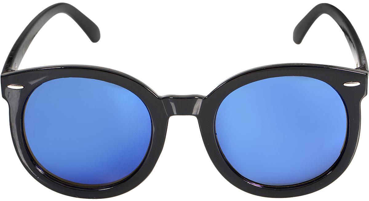 Очки солнцезащитные Kawaii Factory Arrow, цвет: синий. KW010-000113T-8V-KMСтильные солнцезащитные очки Arrow от Kawaii Factoryвыполнены из высококачественного пластика. Используемый пластик не искажает изображение, не подвержен нагреванию и вредному воздействию солнечных лучей, защищает от бликов, повышает контрастность и четкость изображения, снижает усталость глаз и обеспечивает отличную видимость. Оправа очков легкая, прилегающей формы, не создает никакого дискомфорта.Такие очки защитят глаза от ультрафиолетовых лучей, подчеркнут вашу индивидуальность и сделают ваш образ завершенным. В комплекте имеется стильный черный чехол, который имеет жесткую конструкцию и закрывается на застежку-молнию.