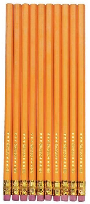 Herlitz Набор чернографитных карнадашей с ластиком 10 шт8670606Набор чернографитных карандашей с ластиком от Herlitz - это прекрасный атрибут для современного школьника или студента. Каждый карандаш в наборе покрыт лаком на водной основе, а его корпус изготовлен из натуральной древесины, что гарантирует легкое, аккуратное затачивание и экономичное, длительное использование. Этот набор карандашей от Herlitz займет достойное место среди ваших канцелярских принадлежностей.