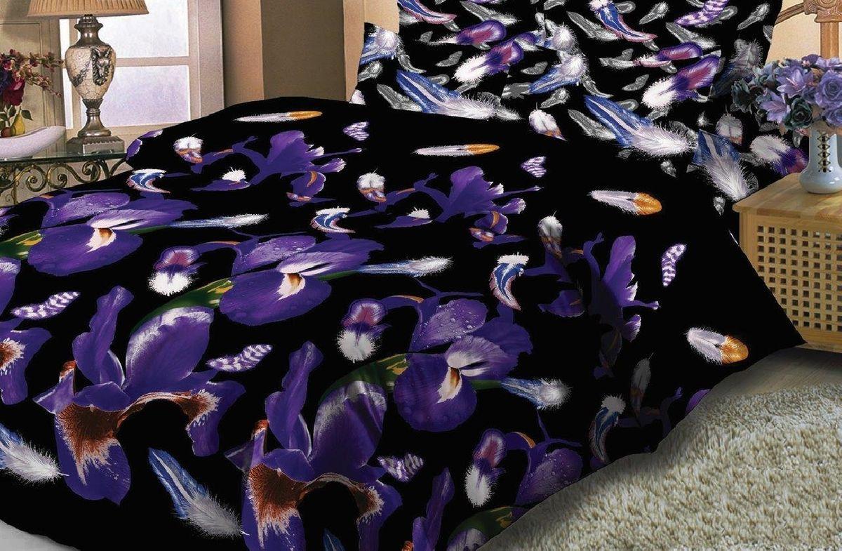 Комплект белья Liya Home Collection Соблазн, 1,5-спальный, наволочки 70x70, цвет: фиолетовый, черный10503Комплект белья Liya Home Collection Соблазн состоит из пододеяльника, простыни и двух наволочек. Изделия выполнены из сатина (100% хлопок).Сатин - производится из высших сортов хлопка, а своим блеском и легкостью напоминает шелк. Постельное белье из сатина превращает жаркие летние ночи в прохладные и освежающие, а холодные зимние - в теплые и согревающие.