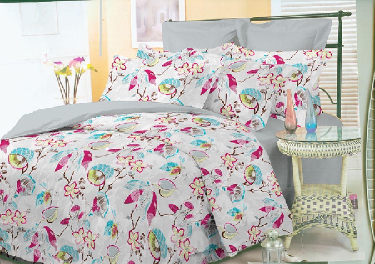 """Комплект белья Liya Home Collection """"Комфорт"""", 1,5-спальный, наволочки 70x70, цвет: светло-розовый 1515150000434"""