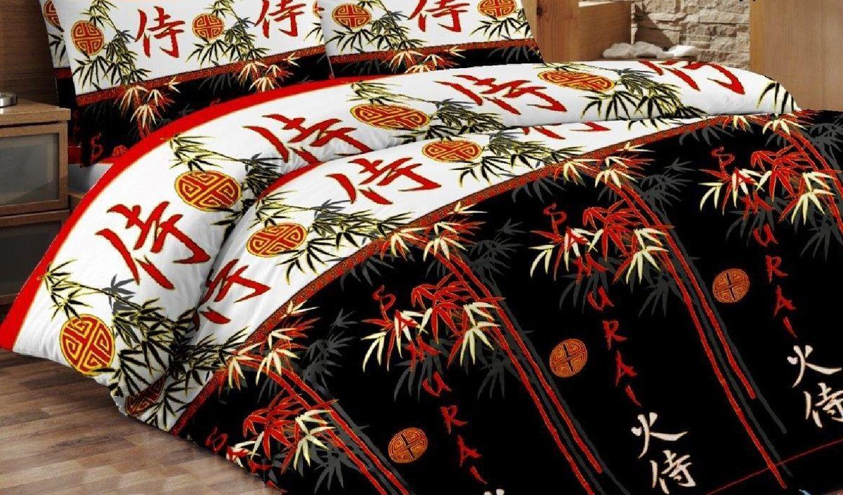 Комплект белья Liya Home Collection Самурай, 2-спальный, наволочки 70x70, цвет: черно-серый0000120001847Liya Tekstil производитель тканей и готовой продукции для дома.В нашем ассортименте комплекты постельного белья из - поплина ( 100% хлопок пл 115х125 гр/м2 ),- сатина ( 100% хлопок пл 130х140 гр/м2,) ,поликаттон (60%хлопка,40%пэ 115гр/м2), крашение реактив.Мы гарантируем ГОСТовский пошив наших комплектов, эксклюзивная упаковка которая пользуется спросом на рынке.