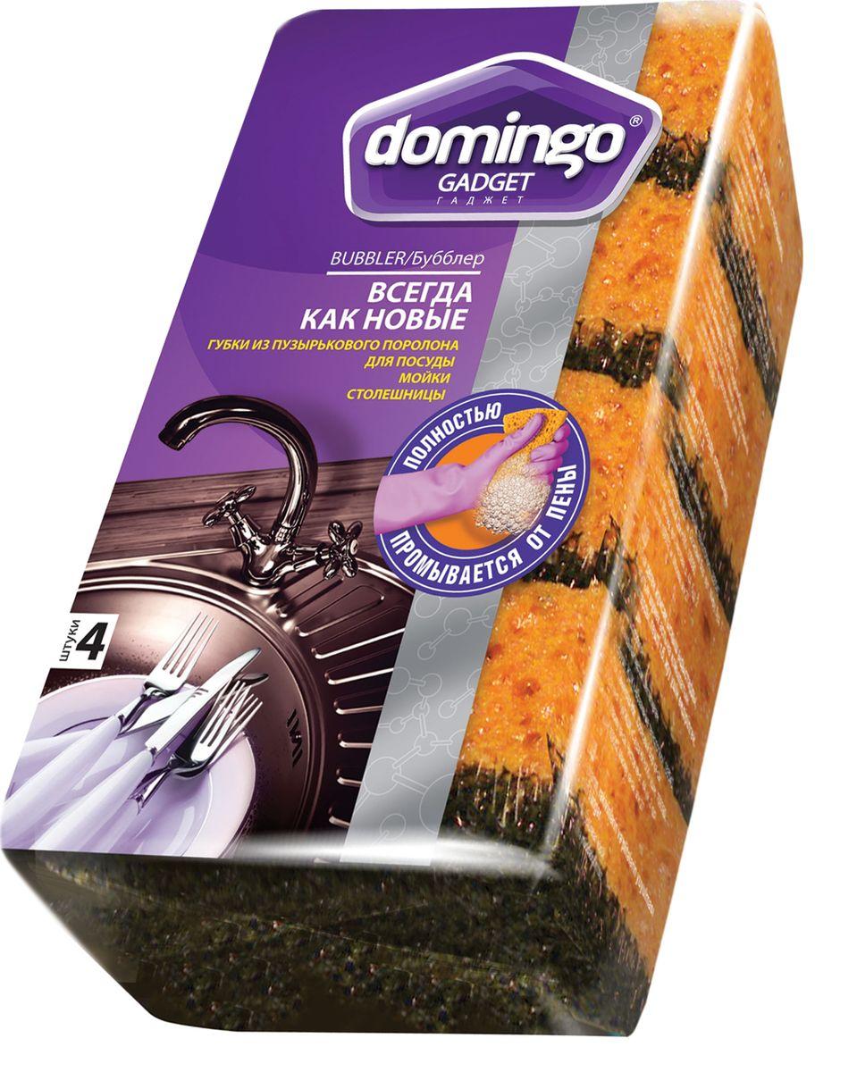 Губка для мытья посуды Доминго Бубблер, 96 х 64 смП0411Губка всегда как новая: поролон не теряет форму, цвет и упругость. Специальный «бисквитный» поролон полностью промывается от пены, жира и остатков пищи. Подходит и для протирки кухонных поверхностей: не оставляет мыльных разводов и мокрых следов.