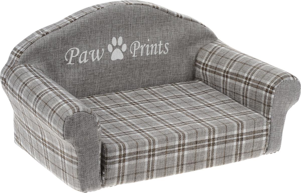 Лежак для животных Paw Prints Диван, цвет: серый, 51 х 32 х 28 см0120710Лежак для животных Paw Prints Диван прекрасно подойдет для отдыха вашего домашнего питомца. Предназначен для собак мелких пород и кошек. Изделие выполнено из прочной льняной ткани с принтом в клетку. Внутри лежака поролон, который обеспечивает мягкость и упругость изделия. Лежак раскладывается, что позволяет увеличить место для отдыха. Комфортный и уютный диван обязательно понравится вашей кошке или собаке, а стильный дизайн изделия оригинально дополнит интерьер дома. Размер матраса (в собранном виде): 37 х 27 х 8 см. Размер матраса (в разобранном виде): 55 х 36 х 4 см.