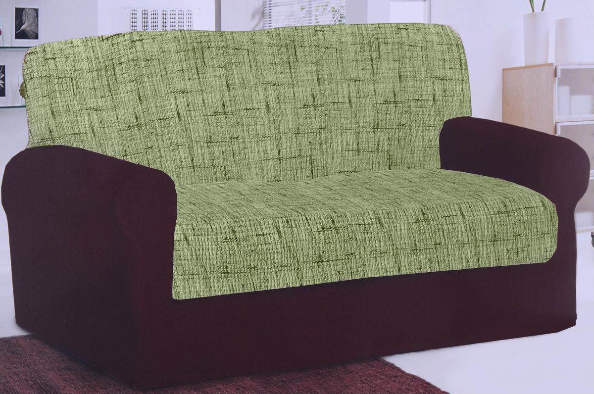 Чехол на 3-местный диван Еврочехол Плиссе, цвет: фисташковый, 150-210 см. 7/48-247/48-24Чехол на диван Еврочехол Плиссе выполнен из 50% хлопка и 50% полиэстера. Он идеально подойдет для тех, кто хочет защитить свою мебель от постоянных воздействий. Этот чехол, благодаря прочности ткани, станет идеальным решением для владельцев домашних животных. Кроме того, состав ткани гипоаллергенен, а потому безопасен для малышей или людей пожилого возраста. Такой чехол отлично впишется в любой интерьер. Еврочехол послужит не только практичной защитой для вашей мебели, но и приятно удивит вас мягкостью ткани и итальянским качеством производства. Чехол одевается не на весь диван, а исключительно на спинку и сиденье. Растяжимость чехла по спинке (без учета подлокотников): 150-210 см.