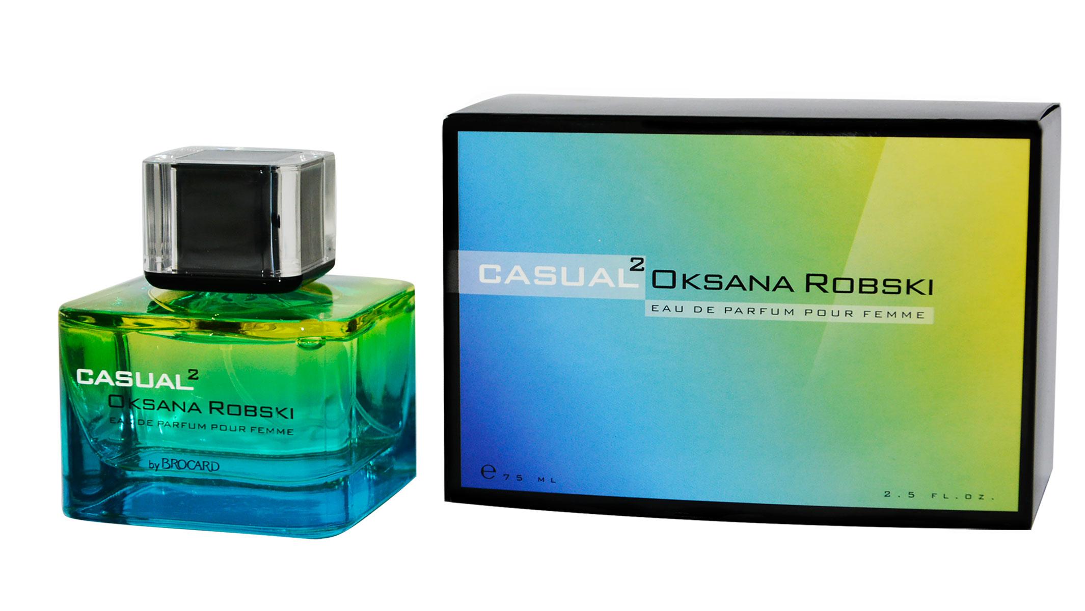 Brocard Oksana Robski Casual 2 парфюмерная вода для женщин81299Композиция Casual 2 создана легкой, свежей, невесомой, но звучашей долго. Удивительный универсальный аромат, который подходит для ежедневного использования на работе, для деловых встреч и романтических свиданий.