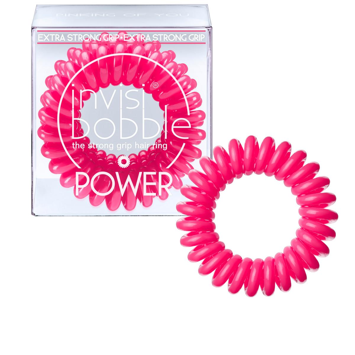 Invisibobble Резинка-браслет для волос Power Pinking of you3054Резиночка invisibobble pinking on you в розовом цвете из коллекции POWER приносит счастье и радость, а заодно привлекает к себе всеобщее внимание. Коллекция invisibobble POWER создана для всех, кто ведет активный образ жизни! Резинки-браслеты invisibobble POWER немного больше в размере, чем invisibobble ORIGINAL, а также имеют более плотные витки. Это позволяет плотно фиксировать волосы во время занятий спортом и активного отдыха. invisibobble POWER также идеальны для густых волос. Резинки-браслеты invisibobble подходят для всех типов волос, надежно фиксируют причёску, не оставляют заломов и не вызывают головную боль благодаря неравномерному распределению давления на волосы. Кроме того, они не намокают и не вызывают аллергию при контакте с кожей, поскольку изготовлены из искусственной смолы.