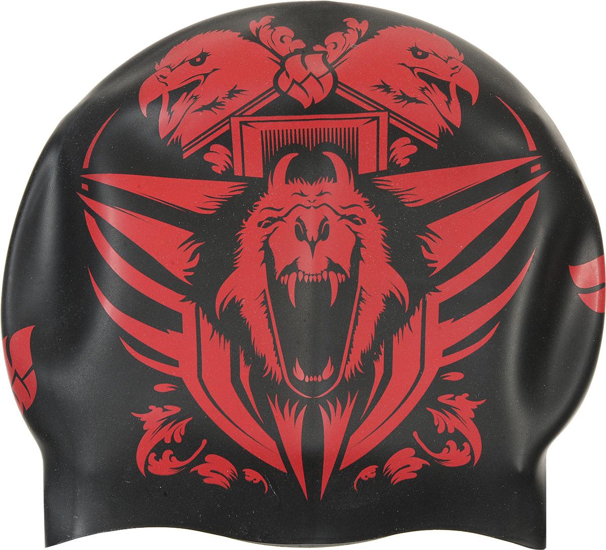 """Шапочка для плавания MadWave """"Reverse Tiger"""", силиконовая, двусторонняя, цвет: черный, серый M0552 07 0 00W"""