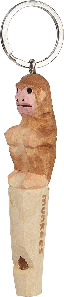 Брелок-свисток Munkees ОбезьянаЛЦ0046Брелок-свисток Munkees Обезьяна - это свисток с вырезанной вручную фигуркой, выполненной из дерева. Фигурка символизирует знак зодиака по восточному календарю. Сам свисток можно использовать на групповых тренировках, можно в качестве дрессировки собак, а можно и в экстренных случаях, обратить на себя внимание либо отпугнуть недоброжелателей или агрессивных животных.Такой свисток станет оригинальным и практичным подарком.