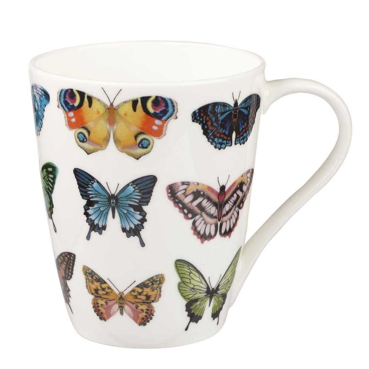 Кружка Churchill Бабочки, цвет: белый, оранжевый, синий, 425 млHARL00171Кружка Churchill Бабочки изготовлена из высококачественного костяного фарфора. Внешние стенки дополнены красочным изображением бабочек. Такая кружка отлично подойдет для горячих и холодных напитков. С ней ваши любимые напитки будут еще вкусней. Коллекция Арлекин красиво упакована в подарочные коробки. Можно мыть в посудомоечной машине. Можно использовать в микроволновой печи.
