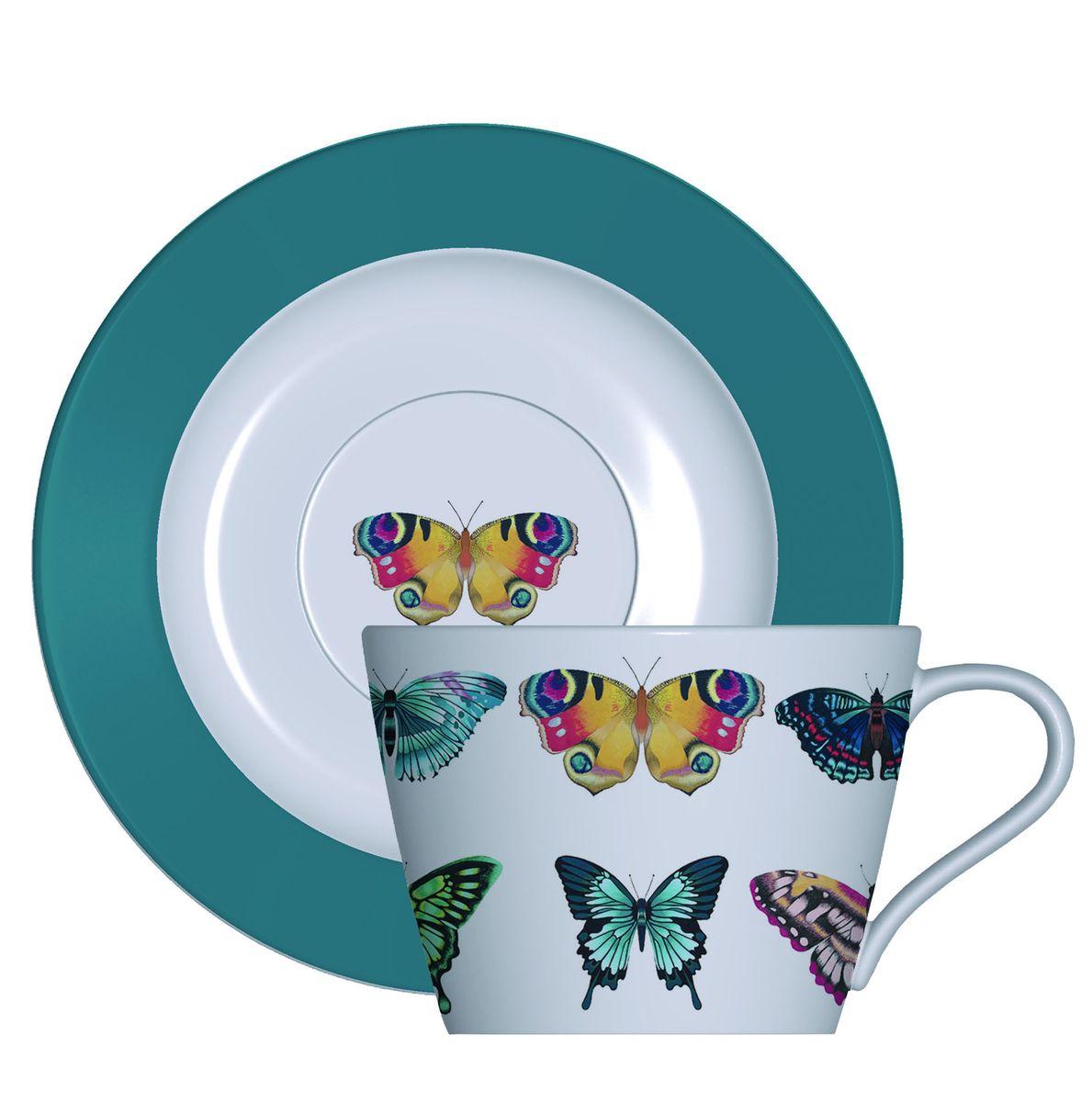 Набор кофейный Churchill Бабочки, 4 предметаHARL00351Набор кофейный Churchill Бабочки состоит из 2 кофейных чашек и 2 блюдец. Изделия выполнены из высококачественного костяного фарфора и оформлены красочным изображением бабочек. Можно мыть в посудомоечной машине. Можно использовать в микроволновой печи.