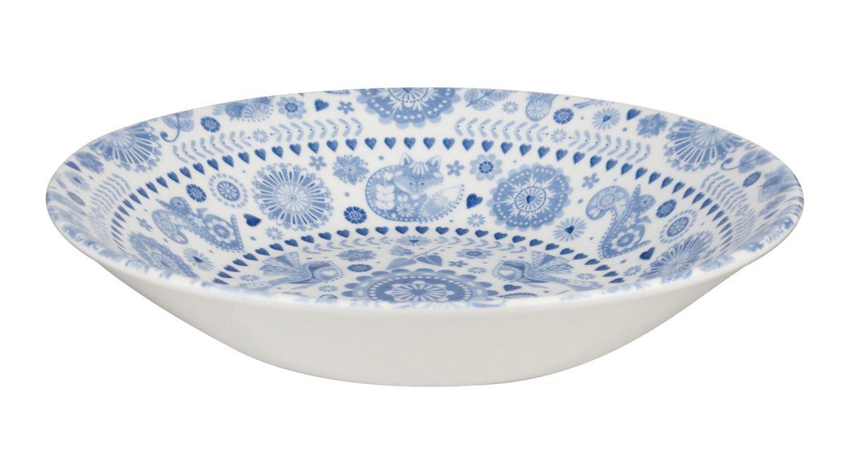 Тарелка суповая Churchill, диаметр 20 см. PENZ00241PENZ00241Коллекция Penzance - классическое сочетание синего и белого с народным дизайном. Материал: фарфор, фаянс, керамика. Можно мыть в посудомоечной машине Можно использовать в микроволновой печи