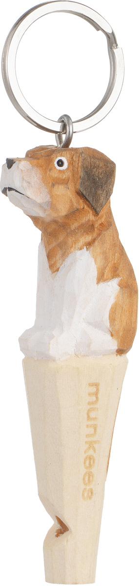 Брелок-свисток Munkees Собака3361Брелок-свисток Munkees Собака - это свисток с вырезанной вручную фигуркой, выполненной из дерева. Фигурка символизирует знак зодиака по восточному календарю. Сам свисток можно использовать на групповых тренировках, можно в качестве дрессировки собак, а можно и в экстренных случаях, обратить на себя внимание либо отпугнуть недоброжелателей или агрессивных животных. Такой свисток станет оригинальным и практичным подарком.