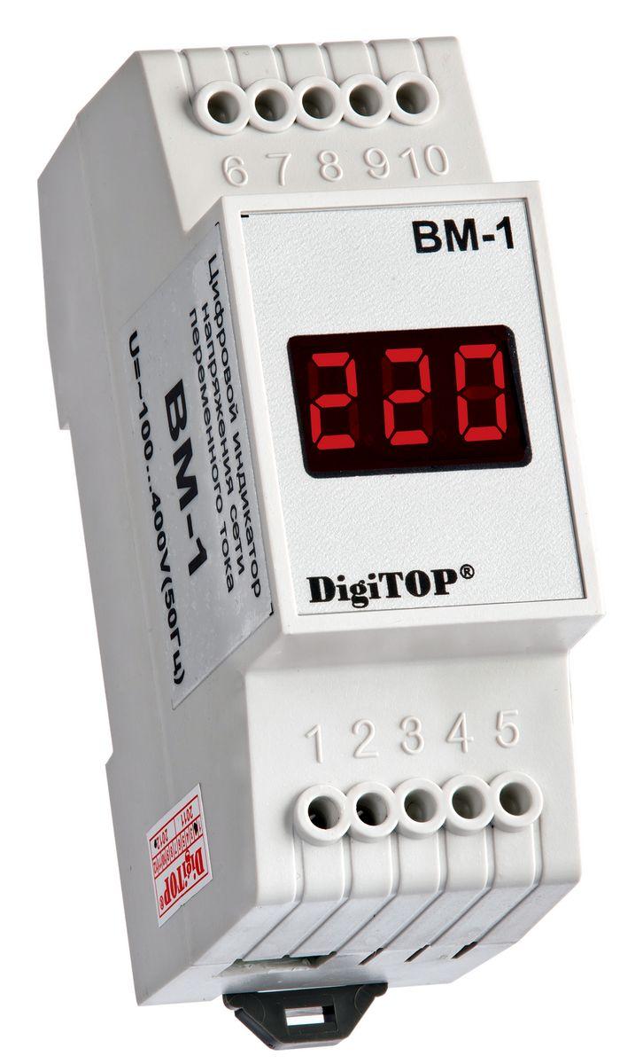 Вольтметр DigiTOP Вм-100000000038Предназначен для измерения действующего значения напряжения переменного тока частотой 50(±1)Гц в однофазной сети.