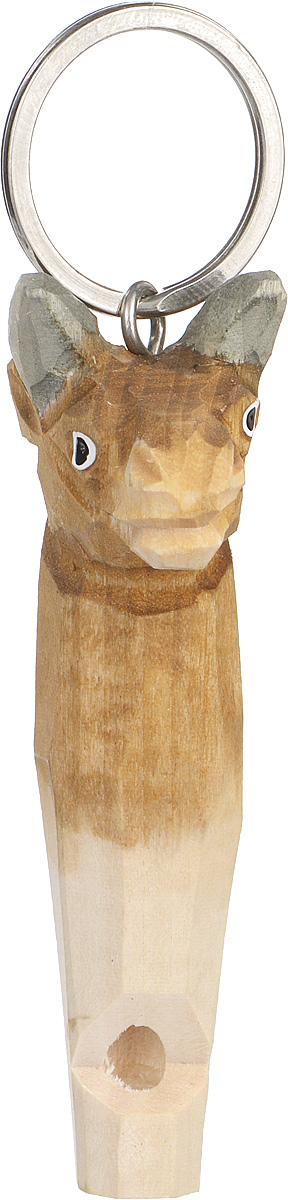 Брелок-свисток Munkees БыкЛЦ0036Брелок-свисток Munkees Бык - это свисток с вырезанной вручную фигуркой, выполненной из дерева. Фигурка символизирует знак зодиака по восточному календарю. Сам свисток можно использовать на групповых тренировках, можно в качестве дрессировки собак, а можно и в экстренных случаях, обратить на себя внимание либо отпугнуть недоброжелателей или агрессивных животных.Такой свисток станет оригинальным и практичным подарком.
