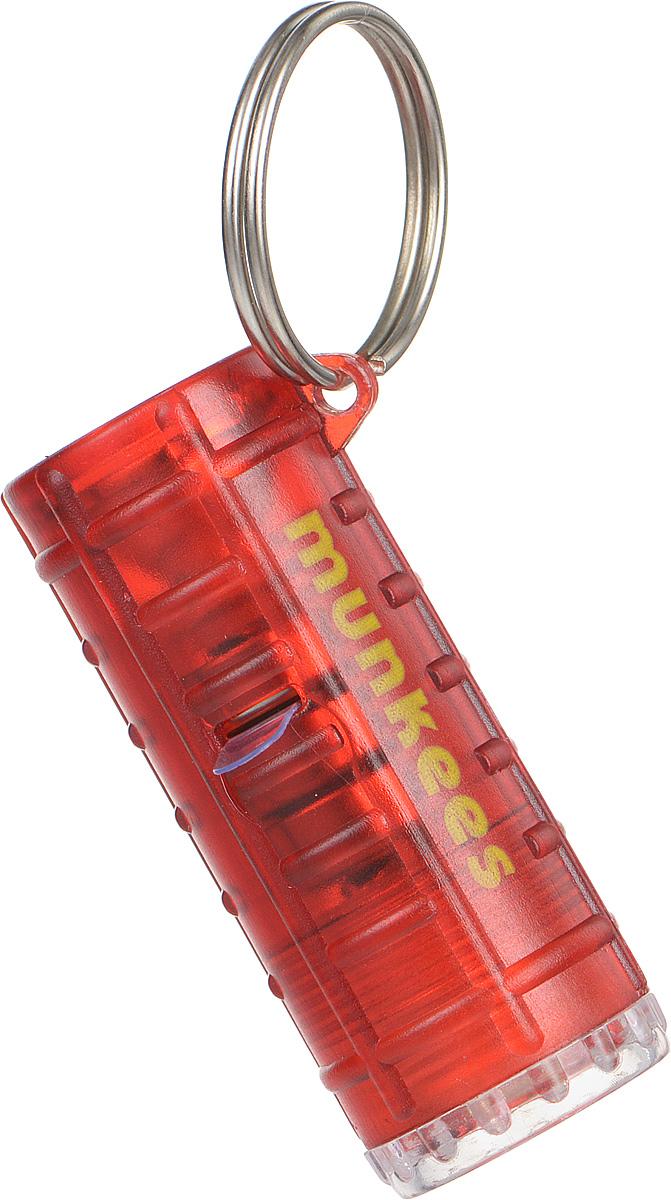 Брелок-фонарик Munkees, 4 режимаBP-001 BKБрелок-фонарик Munkees имеет 4 различных режима свечения. Фонарик имеет две лампы по обе стороны корпуса, выполненного из прочного пластика. С одной стороны белый фонарик, с другой красный. 4 режима свечения: белый постоянный, красный постоянный, белый + красный постоянные, красный мигающий. Стальное кольцо позволяет носить фонарь на ключах, поясе или рюкзаке.