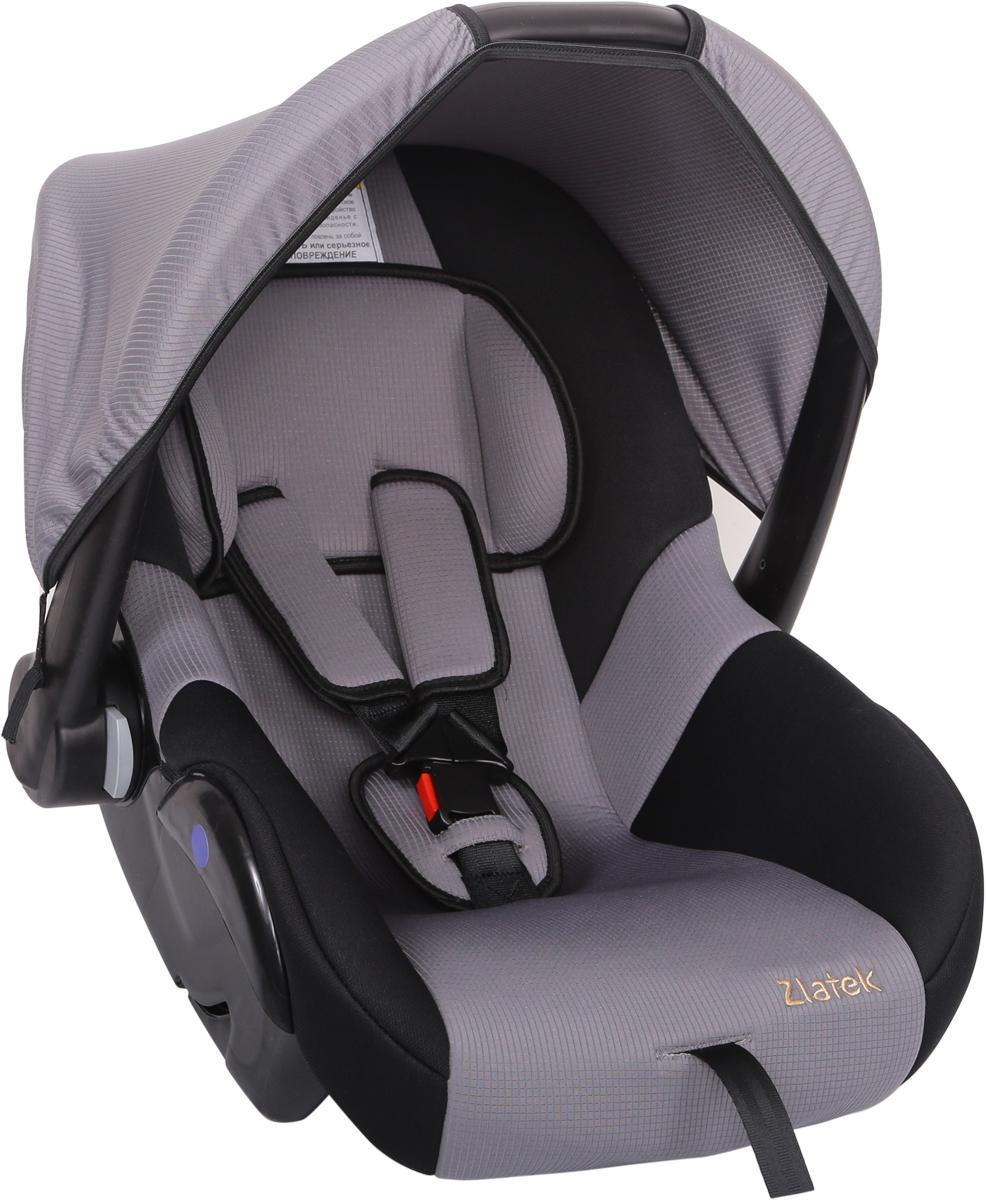 Zlatek Автокресло Colibri цвет серыйКРЕС0183Детское автомобильное кресло Zlatek «Colibri», для детей от рождения до полутора лет, весом до 13 кг. Относится к возрастной группе 0, 0+. Мягкий вкладыш-подголовник обеспечивает дополнительный комфорт во время поездки. Съемный капюшон защищает ребенка от солнца, а удобная ручка позволяет без лишних усилий переносить ребенка, как в обычной люльке. Ярко выраженная боковая защита позволяет повысить уровень безопасности при боковых ударах. Детские удерживающие устройства Zletek разработаны и сделаны в России с учетом анатомии детей. Двухпозиционная регулировка внутренних ремней позволяет адаптировать кресло Zlatek «Colibri» под зимнюю и летнюю одежду ребенка. Автокресло успешно прошло все необходимые краш-тесты и имеет сертификат соответствия техническому регламенту РФ и таможенному союзу. Автокресло Zlatek «Colibri» упаковано в защитную полиэтиленовую пленку.