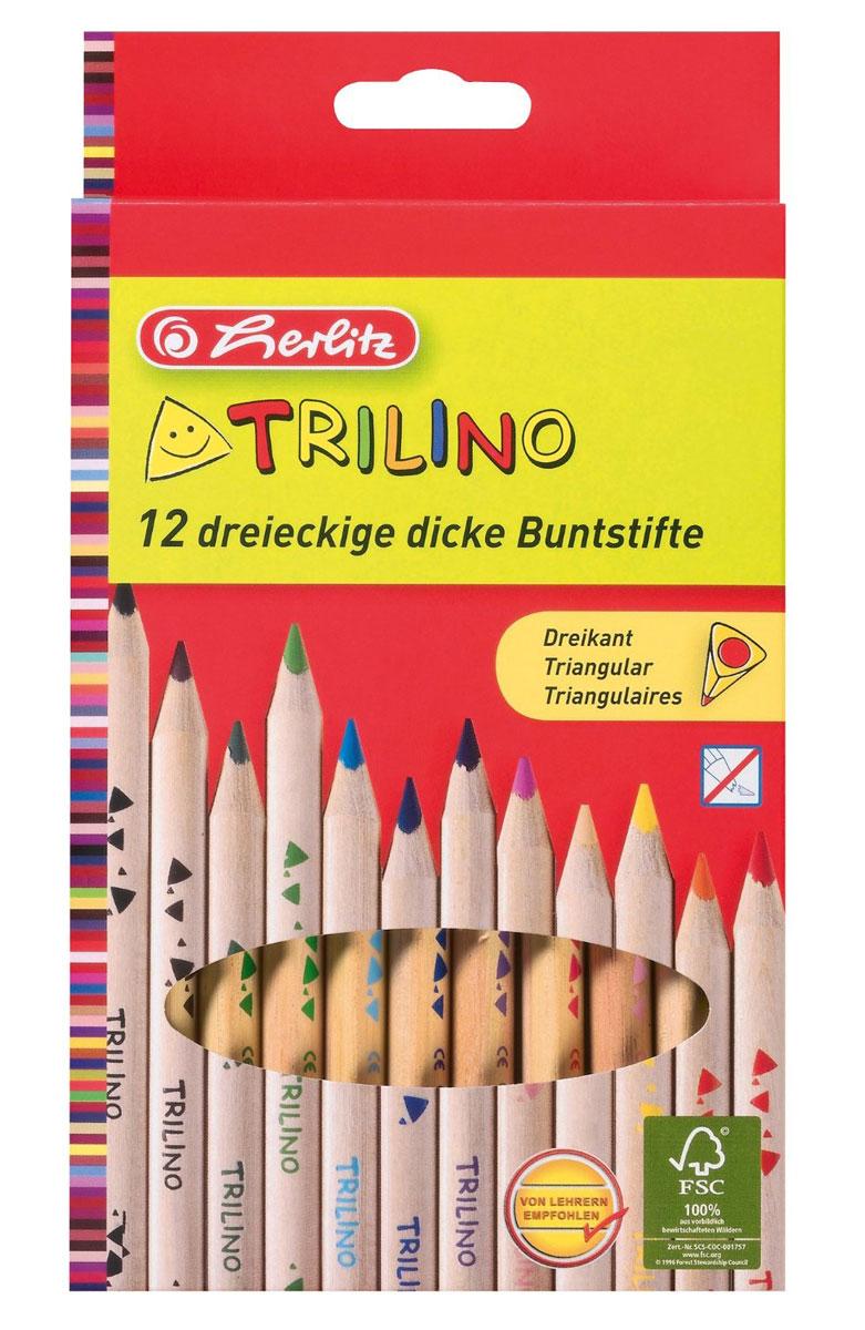 Herlitz Набор цветных карандашей Trilino 12 шт 10412062