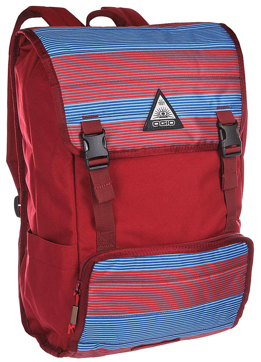Рюкзак городской Ogio Ruck 20 Pack, цвет: красный, синий , 21 л22-0570 SOGIO – высокотехнологичный продукт от американского производителя. Вместимые сумки для путешествий, работы и отдыха, специальная коллекция городских сумок для женщин, жесткие боксы под мелкий инвентарь и многое другое. Компактный городской рюкзак с продуманным внутренним пространством и городским функционалом: отдельный отсек для 17-дюймового ноутбука, карман на молнии для планшета и внешний отсек для небольших гаджетов.