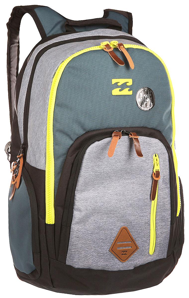Рюкзак городской Billabong Command, цвет: стальной , 35 лW5BP05Практичный рюкзак, выполненный из износостойких материалов, готовый служить Вам долгое время, сохраняя презентабельный внешний вид. Множество отделений делаю его очень вместительным и позволяют раскладывать вещи так, как Вам удобно. Мягкие вставки на задней панели и эргономичные плечевые лямки
