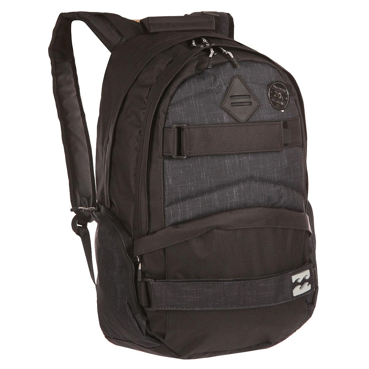 Рюкзак городской Billabong Hermosa, цвет: угольно-черный , 20 лW5BP04Hermosa Bckpack с легкостью вместит все необходимые вещи и сохранит ноутбук в целости благодаря отдельному мягкому внутреннему отсеку. Внешний фронтальный карман на молнии в сочетании с двумя боковыми позволит держать все необходимые мелочи в полном порядке. А удобные крепления для доски позволят всегда иметь под рукой маневренный транспорт