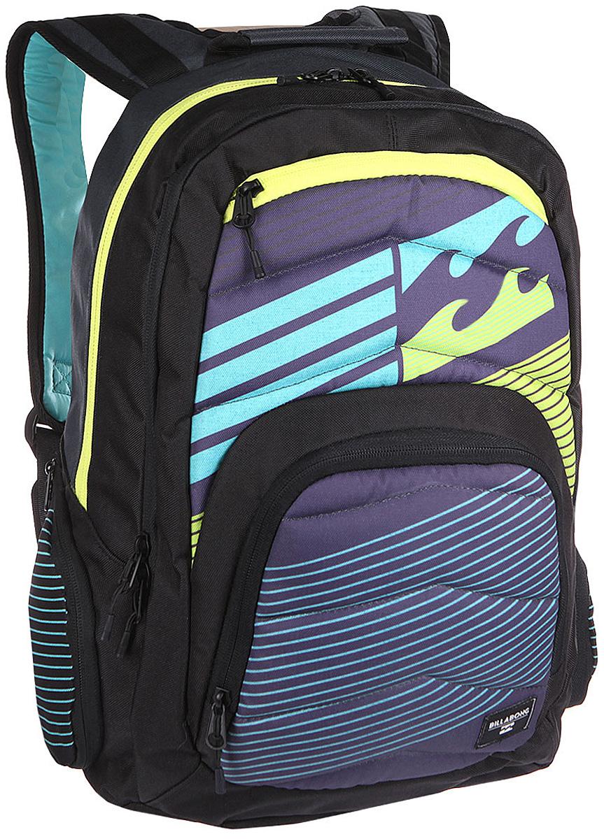 Рюкзак городской Billabong Relay Backpack, цвет: серый, 24 лU5BP04Отличный городской рюкзак с двумя вместительными отделениями и спокойным дизайном, не перегруженным лишними деталями. Небольшой внешний карман на молнии с внутренними отсеками поможет правильно организовать необходимые мелочи, а в боковые карманы с легкостью поместиться, например, бутылка воды.