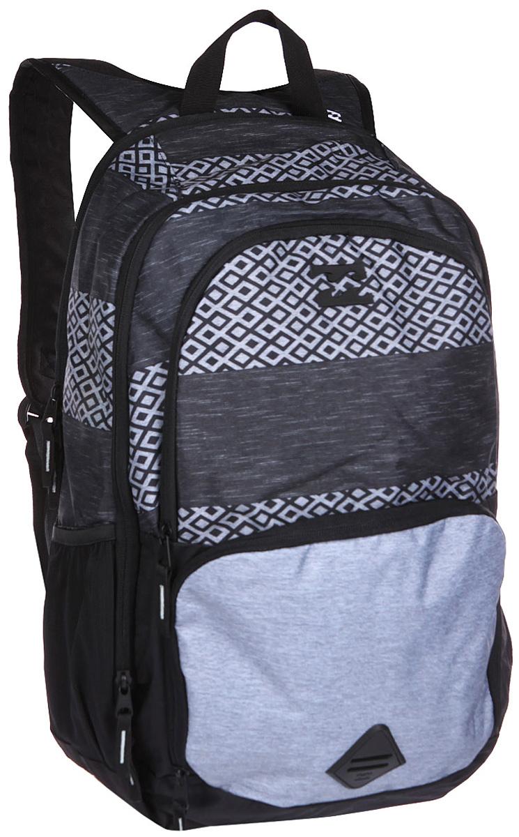 Рюкзак городской Billabong Strike Thru Backpack, цвет: светло-серый , 36 лU5BP09Небольшой вес, лаконичный дизайн и много пространства для организованного хранения - с рюкзаком Billbong Strike Thru не захочется расставаться, так как он способен стать отличным компаньоном не только по дороге на работу или на учебу, но и в длительных поездках.