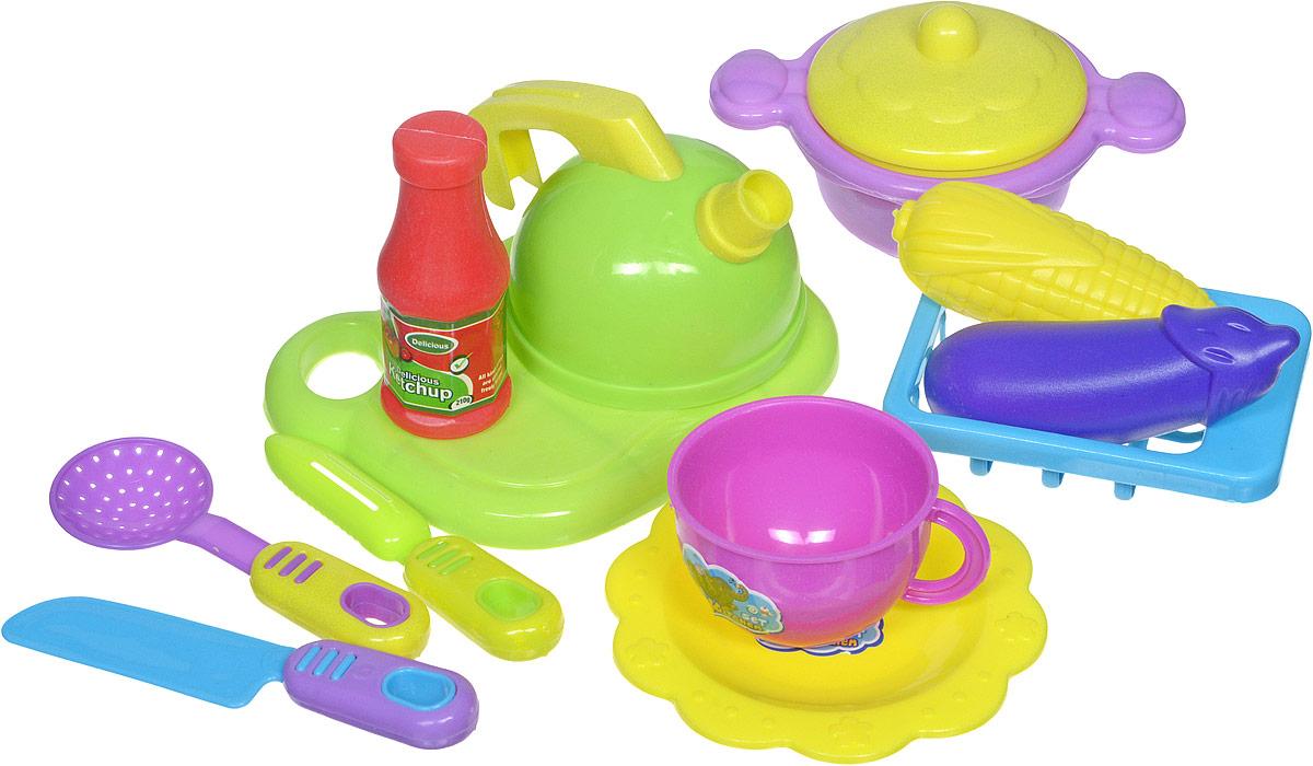 Shantou Игрушечный набор посуды с продуктами 12 предметов