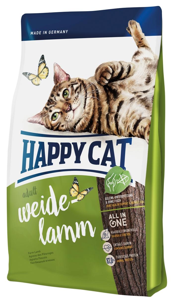 """Корм сухой Happy Cat """"Adult"""" для кошек с чувствительным пищеварением, пастбищный ягненок, 4 кг 70189"""