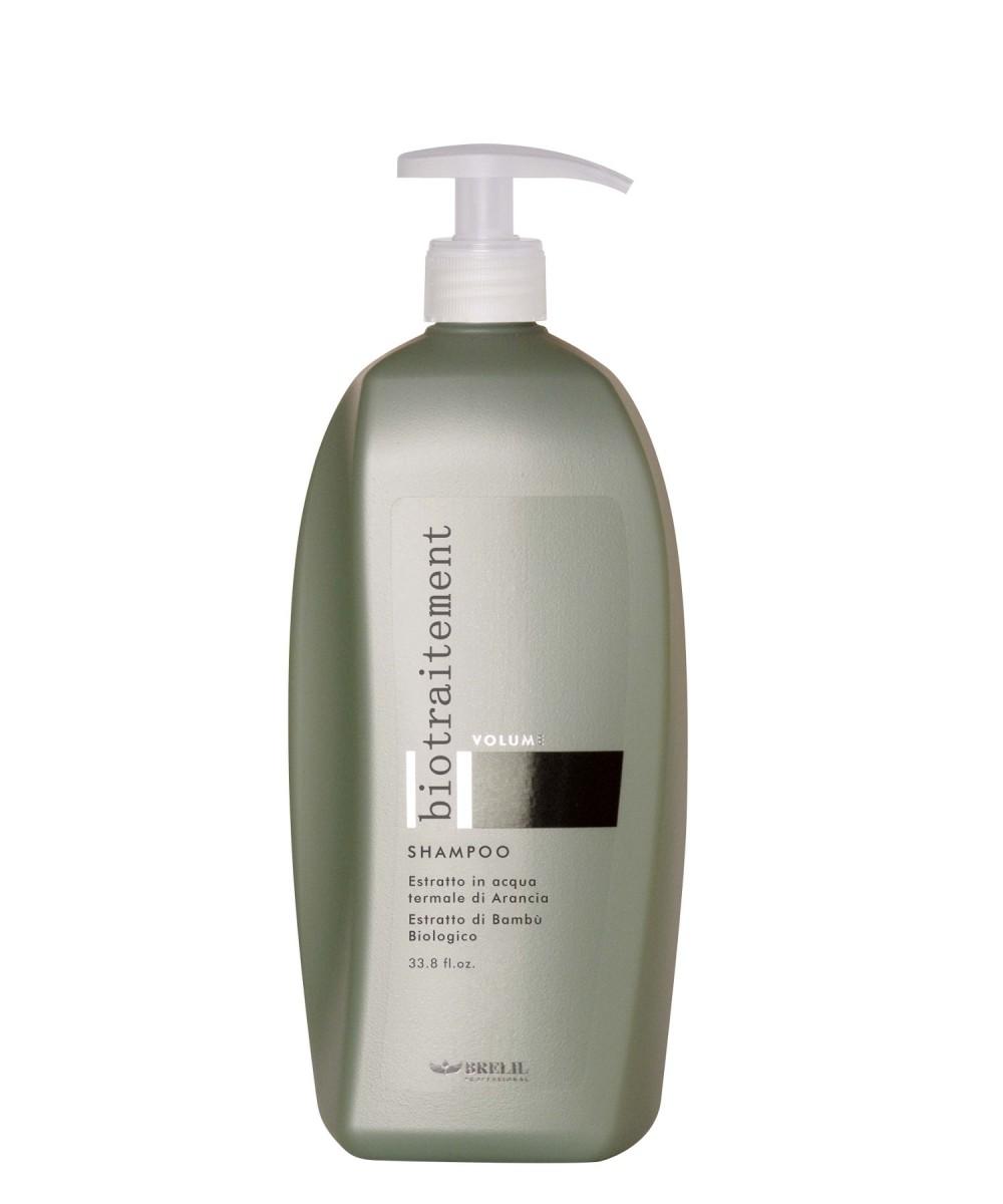 Brelil Шампунь для придания объёма Bio Traitement Volume Shampoo, 1000 млБ33041_шампунь-барбарис и липа, скраб -черная смородинаBrelil Bio Traitement Volume Shampoo Шампунь для придания объёма. Шампунь является замечательным средством для очищения волос от пыли и загрязнений, и придания волосам великолепного эффекта объёма. В состав шампуня от итальянского бренда Брелил Professional входит органическое молочко бамбука, которое богато витаминами и способствует отличному восстановлению водного баланса, наполняет волосы здоровьем, силой и красотой. Также шампунь включает в состав натуральный экстракт апельсина, который делает волосы мягкими, послушными и шелковистыми, питает структуру волос и придаёт волосам отличный объём. Шампунь тонизирует и питает волосы, защищает от ультрафиолетовых лучей, оказывает освежающее воздействие на кожу головы.Шампунь для придания объёма Brelil Bio Traitement Volume Shampoo делает волосы сильными и эластичными, устраняет завитки и секущиеся кончики волос. Средство обладает приятным ароматом, не содержит парабены и другие агрессивные вещества.